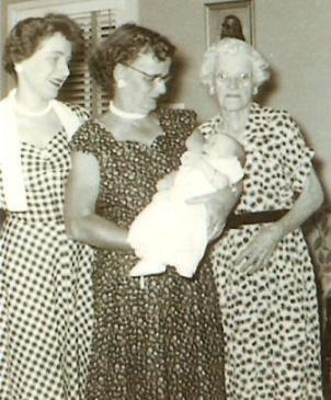 my christening - 4 generations of women