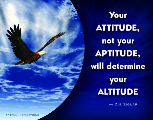 Your attitude creates your reality